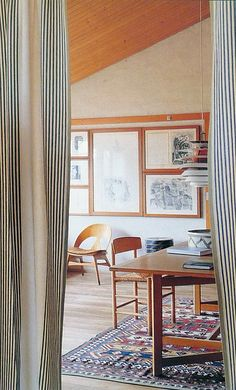 Gentofte, North Copenhagen, Denmark Built in 1958 Designed by Børge Mogensen [Photo by Andrew Wood for Scandinavian Living] Interior Design Inspiration, Home Decor Inspiration, Home Decoracion, Living Spaces, Living Room, Scandinavian Living, Interiores Design, Home And Living, Interior Architecture