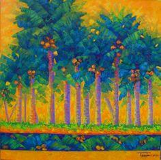 "ART. TANIA CAMARA. ""TELCHAC"".OLEO SOBRE TELA. 1.00 X 1.00 MTRS. 2013"