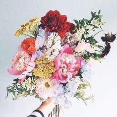 Happy Friday sweet friend!  Flowers are a little gift I'll buy myself on a random morning because they make me feel graceful  successful working from home.  What small things make you feel the way you want to feel? Perhaps pick one up this weekend? {image via @everlyclothing} by hilaryrushford