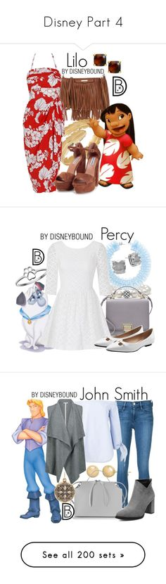 """""""Disney Part 4"""" by gretchenlover ❤ liked on Polyvore featuring Bling Jewelry, Rebecca Minkoff, Steve Madden, disney, disneybound, disneycharacter, Lagos, Kate Spade, Mary Katrantzou and Smythson"""