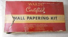 Vintage Montgomery Ward Wallpaper Hanging Kit Original Box Most Parts Included
