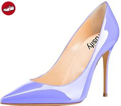 Trusify Damen 10cm EU-Größe 34-46 Truisaddup Stiletto 10CM Synthetik Pumps, Blau Light, 46 (*Partner-Link)
