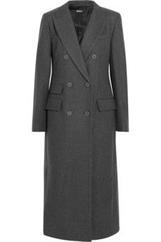 DKNY Embellished wool-blend felt coat | NET-A-PORTER