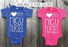 I Love My NICU Nurses Outfit / NICU Graduate / Miracle Baby / I Love My NICU Nurses Bodysuit / ivf B Cute Teen Outfits, Baby Boy Outfits, Kids Outfits, Preemie Babies, Preemies, Nursing Clothes, Preemie Clothes, Miracle Baby, Clothes Crafts