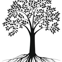 Tree tattoo with deep roots