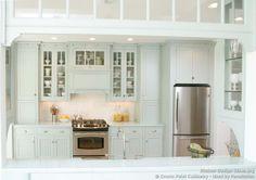 Traditional Blue Kitchen Cabinets #06 (Crown-Point.com, Kitchen-Design-Ideas.org)
