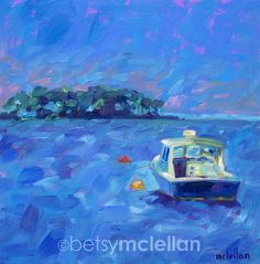 Lobster Boat - Maine Seascape - Giclee Print