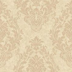 York Wallcoverings 56 sq. ft. Distressed Damask Spot Wallpaper-CR2806 - The Home Depot