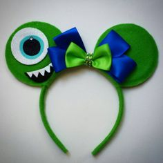 Mike Monsters Inc inspired Mouse ears by MakeMeMinnie on Etsy