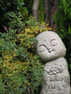 Cute, happy Jizo