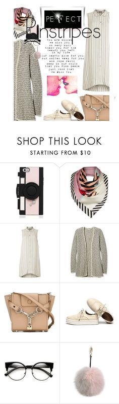 """""""Perfect Pinstripe"""" by no-where-girl ❤ liked on Polyvore featuring Kate Spade, Lulu Guinness, Phase Eight, L.L.Bean, Alexander Wang, Adrienne Landau and pinstripes"""