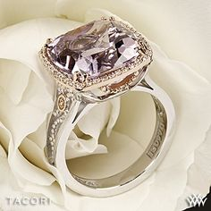 Tacori SR100P13 Blushing Rose Amethyst and Diamond Ring