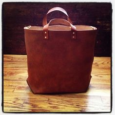 Large Leather Tote from Farrell & Company... to die for...