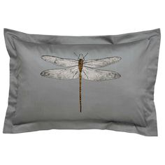 Harlequin Demoiselle Dragonfly Oxford Pillowcase, Graphite | Bedeck Home Brushed Cotton Sheets, Graphite, Pillow Shams, Pillow Cases, Double Duvet Covers, Velvet Quilt, King Size Duvet, Duvet Cover Sizes, Knitted Throws
