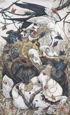 Lauren Marx is a watercolor artist based in St. Kunst Inspo, Art Inspo, Art And Illustration, Fantasy Kunst, Fantasy Art, Art Sketches, Art Drawings, Arte Horror, Limited Edition Prints