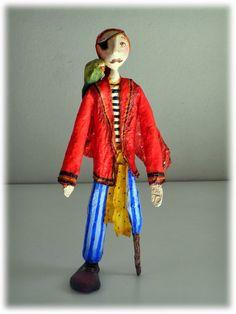 Capitán Lorenzo Paper Clay Art, Paper Mache Crafts, Hydrangea Garden, Art Dolls, Harajuku, Polymer Clay, Sculptures, Miniatures, Ideas