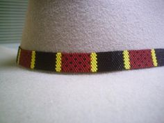 I love this Texas Coral Snake Beaded Hat Band~Native American Style beaded Hatband ~ made by ajwhatbands - Accessories on ArtFire This is such a good rendition !