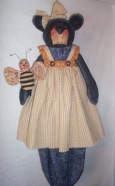 Ms Buzzy Bear Bag Holder