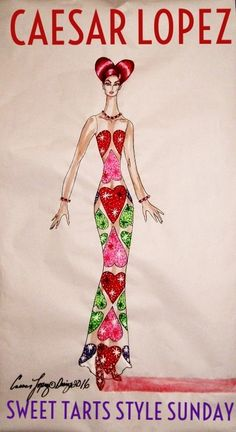 SWEET HEARTS EVENING GOWN BY CAESAR LOPEZ 100%GORGEOUSLOVE!!!