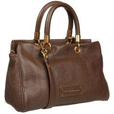 Marc by Marc Jacobs Too Hot To Handle dark brown Satchel ($398) ❤ liked on Polyvore