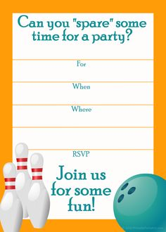 Wordplayhubpages Hub Sports Invitations Bowling