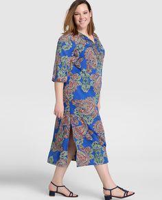 Vestido largo de mujer talla grande Couchel con estampado paisley …
