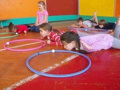 I do this is a circle with others but this is a nice option for solo effort or small group Oral Motor Activities, Physical Activities, Physical Education, Toddler Activities, Yoga For Kids, Exercise For Kids, Kindergarten Activities, Therapy Activities, Gym Games