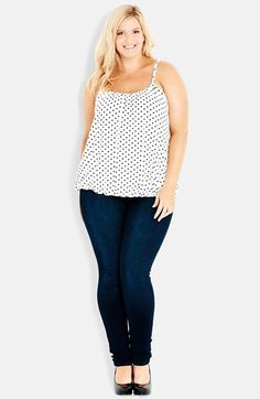 8256060cdd5b2 City Chic Bubble Hem Camisole (Plus Size) available at  Nordstrom Curvy  Outfits