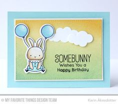 Peppermint Patty's Papercraft: My Favorite Things Color Challenge # 43 | Somebunny