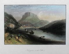 KÖNIGSTEIN an der ELBE - orig. Stahlstich um 1850 PAYNE -  Sächsische Schweiz