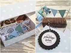 """NaturDekoHerz: """"Kleine Torte, statt vieler Worte"""" - Geburtstagskuchen-Bausatz"""