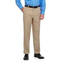 George Men's Flat Front Dress Pant, Size: 32 x 30, Gray