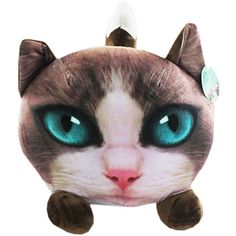 Cat Head Cushion | Toys & Games - New In! at The Works