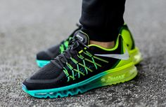 "#Nike Air Max 2015 ""Black, Volt & Hyper Jade"" #sneakers"
