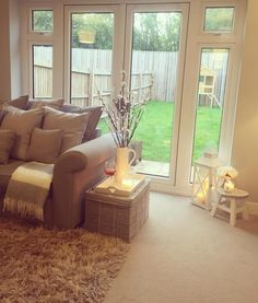 I love the way the light shines in this cosy interior.