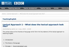 http://www.teachingenglish.org.uk/article/lexical-approach-1-what-does-lexical-approach-look