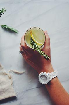 Rosemary Vanilla Bean Lemonade | Turntable Kitchen