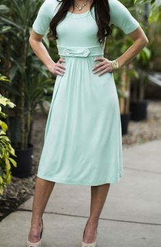 Minty Modest Dress bridesmaids dress but in a different color!!!