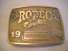Vintage National Finals Rodeo Hesston Belt by SeaPillowTreasures, $15.95