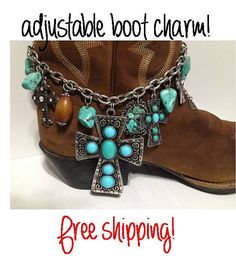 Western adjustable boot charm boot bling boot bracelet  by Dibrel, $21.99