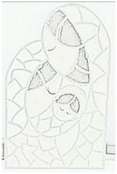 Dibujo editado en blanco y negro para imprimir