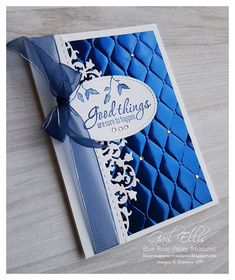 Blue Rose Paper Treasures: Noble Peacock DSP and Foil Handmade Birthday Cards, Greeting Cards Handmade, Embossed Cards, Paper Cards, Foil Paper, Cards Diy, Card Making Techniques, Stamping Up Cards, Pretty Cards