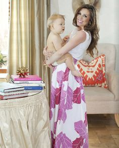 Sheridan French in Matchbook Magazine wearing the Lillian Skirt in Pink Palm