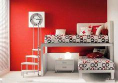decoracao de interior: decora quartos planejados Vermelhos