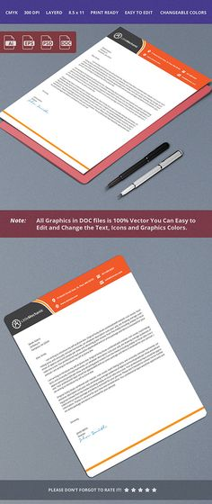 Letterhead Design by Sajida Salim on @creativemarket