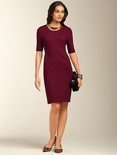 Talbots - Ponte Knit Sheath Dress     Misses