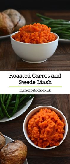 Roasting the vegetables really brings out the flavour in this carrot and swede mash recipe. The perfect accompaniment to a roast dinner and two of your five-a-day. Gluten-free and vegan. Roasted Carrots, Swede Recipes, Carrot Recipes, Vegetable Recipes, Vegetarian Recipes, Cooking Recipes, Healthy Recipes, Cooking Ideas, Rice