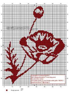Cross Stitch Charts, Cross Stitch Patterns, Crochet Patterns, Knitting Charts, Knitting Stitches, Embroidery Flowers Pattern, Cross Stitch Flowers, Filet Crochet, Le Point