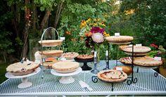 Des tartes pour mon gâteau de mariage