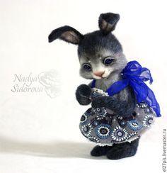 Teddy Bunny / Мишки Тедди ручной работы. Ярмарка Мастеров - ручная работа. Купить Ася. Handmade. Тёмно-синий, заюшка, мохер